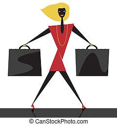 Graphic fashion shopping
