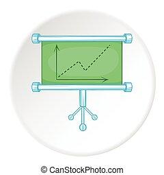 Graphic icon, flat style - Graphic icon. Flat illustration...