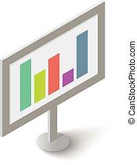 Graphic icon, isometric style