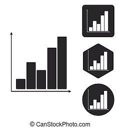Graphic icon set, monochrome