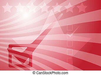 USA elections - Graphic illustration with checkmark over...