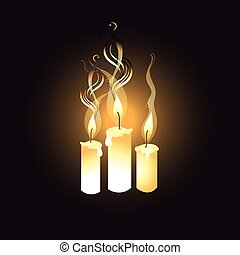 graphic image of candles - graphic bright candles on a dark...