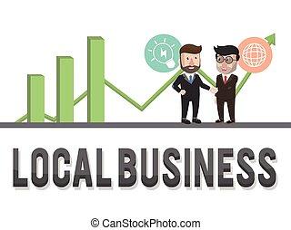 graphic local business illustration