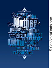 Graphic Mothers Day word montage - Graphic composition of ...
