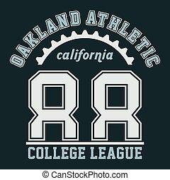 Graphic OAKLAND ATHLETIC CALIFORNIA