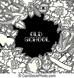 Graphic old school design