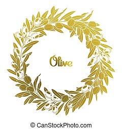 Graphic olive wreath