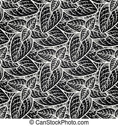Graphic oregano pattern