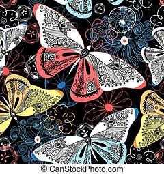 Graphic pattern fancy butterflies - Lovely graphic pattern...