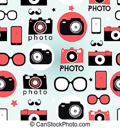 Graphic pattern of cameras
