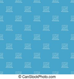 Graphic pattern vector seamless blue repeat for any use