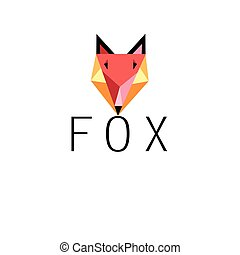 Graphic portrait of fox icon