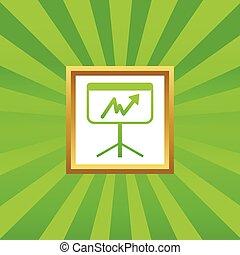 Graphic presentation picture icon