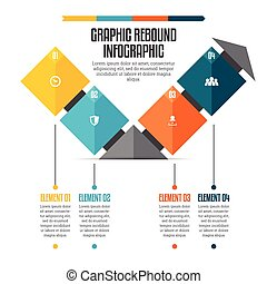 Graphic Rebound Infographic - Vector illustration of graphic...