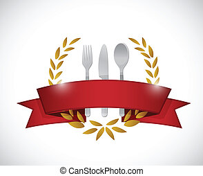 graphic., ristorante, disegno, illustrazione, sigillo
