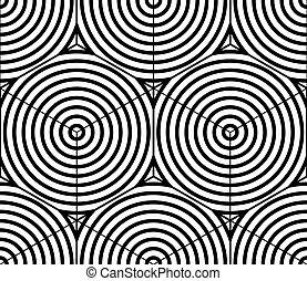 Graphic seamless abstract pattern, regular geometric black...
