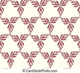 Graphic seamless background with leaves. Vector pattern.