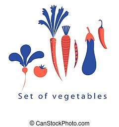 Graphic set of different vegetables