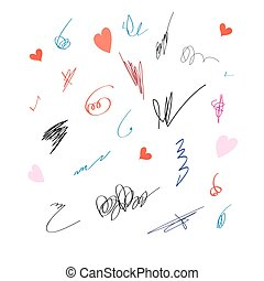 Graphic set with different signatures