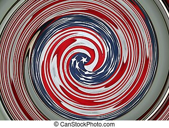 Graphic Swirl of American Flag - An American flag is...