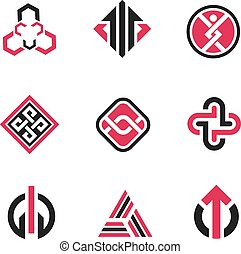 Graphic symbols and technology conc