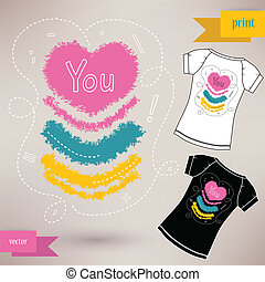 Graphic T- shirt design you Vector illustration