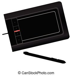 graphic tablet black vector illustration