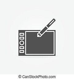 Graphic tablet icon or logo