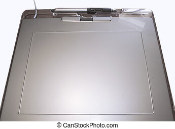 graphic tablet  - isolated in white