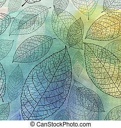 graphic texture of the leaves