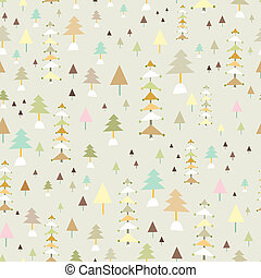 graphic texture of trees - beautiful seamless pattern of...