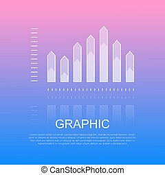 Graphic Transparent Column Chart with Sharp Edges