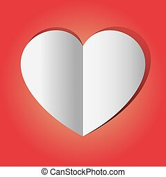 Graphic Vector Heart red