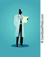 Graphic vector illustration of a doctor