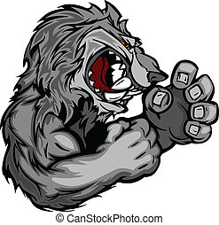 Graphic Vector Image of a Wolf or C - Coyote or Wolf...