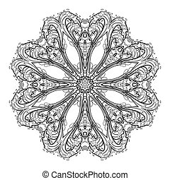 Graphic water circle ornament