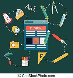 Graphic, web design icons