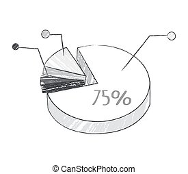 Graphic with Percentage on Vector Illustration