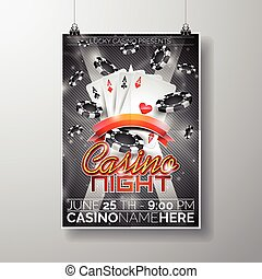 Graphic_151_28_casino - Vector Party Flyer design on a...