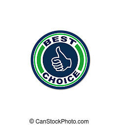 Graphical best choice stamp