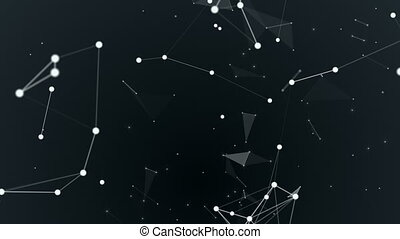 Graphical geometric background molecule and connection,...