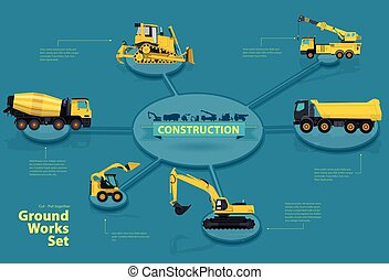 Graphical isometric layout construction machinery....