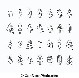 Graphical tree set, isometric line