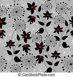 Graphically stylish floral decorations