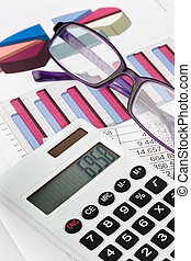 graphics calculator and a balance sheet - a calculator with ...
