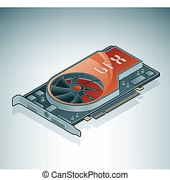 Graphics Card (GPU) is a part of the Isometric 3D Computer...