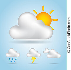 graphics of climates over sky background vector illustration
