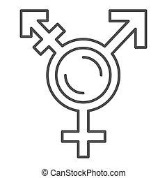 graphics., rodzaj, biały, szkic, ikona, symbolika, lgbt, ...