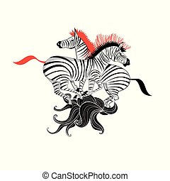 Graphics super beautiful zebra