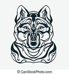 graphics wolf's head,wolf,
